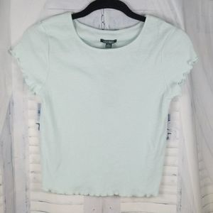 NWT Short Sleeve Cropped Crew Neck T-Shirt